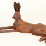 Hare Large Rusted Iron